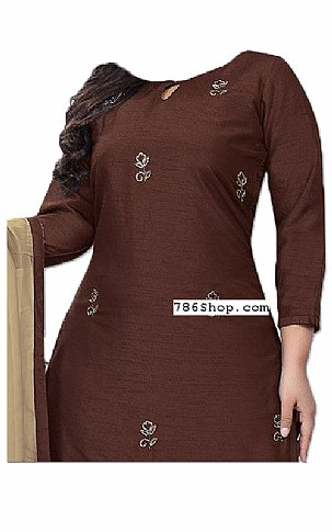 Chocolate Georgette Suit | Pakistani Dresses in USA