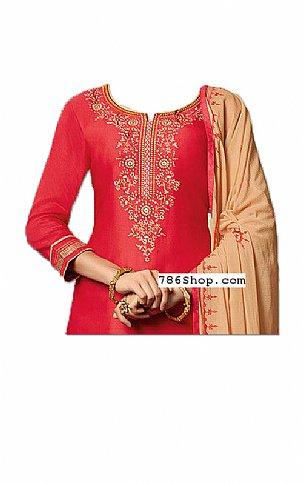 Pink/Beige Georgette Suit | Pakistani Dresses in USA