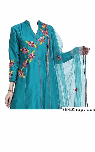 Blue/Red Georgette Suit | Pakistani Dresses in USA
