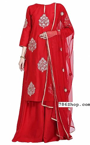 Red Georgette Suit | Pakistani Dresses in USA