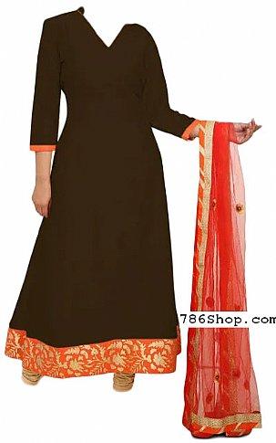 Chocolate Chiffon Suit | Pakistani Dresses in USA