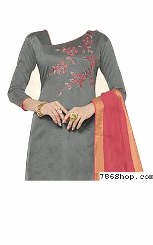 Grey Georgette Suit | Pakistani Dresses in USA