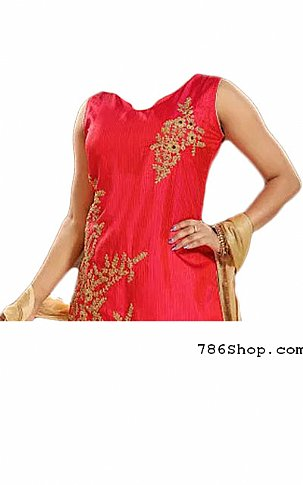 Hot Pink Chiffon Suit | Pakistani Dresses in USA