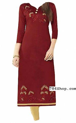 Maroon Georgette Suit | Pakistani Dresses in USA