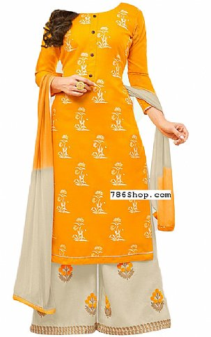 Mustard Georgette Suit | Pakistani Dresses in USA
