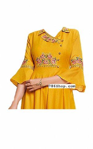 Mustard Georgette Suit | Pakistani Dresses in USA