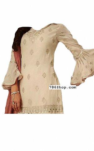Ivory Chiffon Suit | Pakistani Dresses in USA