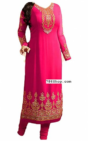 Hot Pink Georgette Suit | Pakistani Dresses in USA