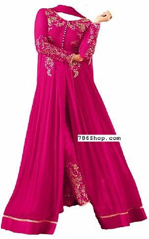 Pink Chiffon Suit | Pakistani Dresses in USA