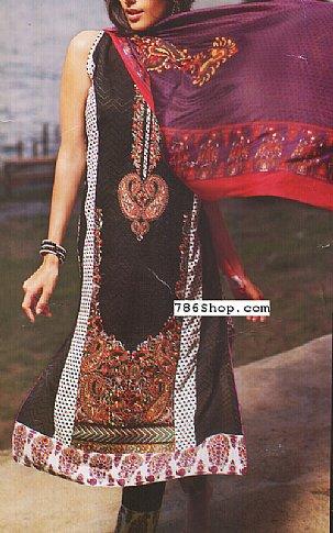 Black Lawn Suit | Pakistani Lawn Suits