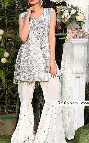 72e51fc173 White Chiffon Suit | Buy Pakistani Indian Dresses | 786Shop.com