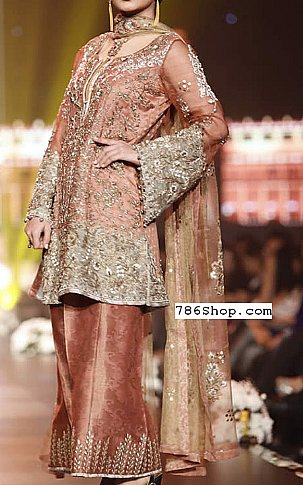 Tea Pink Chiffon Suit | Pakistani Party and Designer Dresses in USA