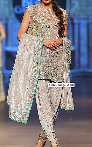 Ivory Silk Suit | Pakistani Party and Designer Dresses in USA