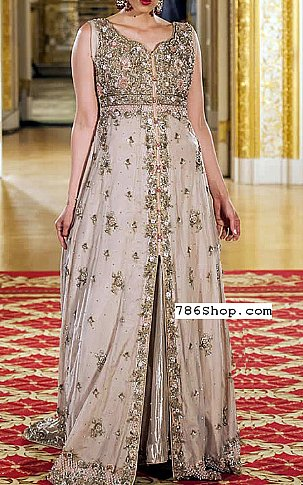 Ivory Chiffon Suit | Pakistani Party and Designer Dresses in USA