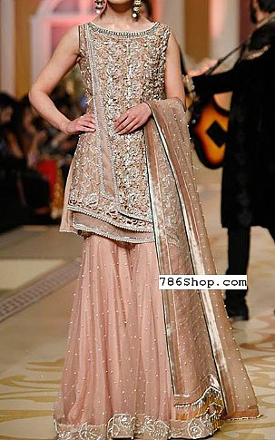 Peach Chiffon Suit | Pakistani Wedding Dresses in USA
