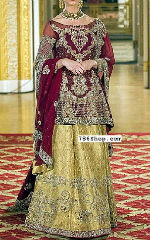 Magenta Chiffon Suit | Pakistani Wedding Dresses in USA