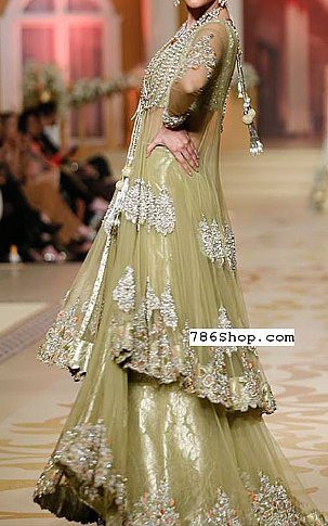 Light Pistachio Net Suit | Pakistani Wedding Dresses in USA