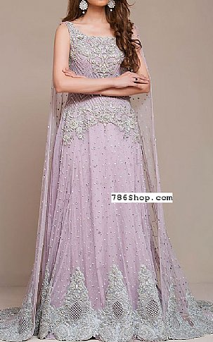 Lilac Crinkle Chiffon Suit | Pakistani Party and Designer Dresses in USA