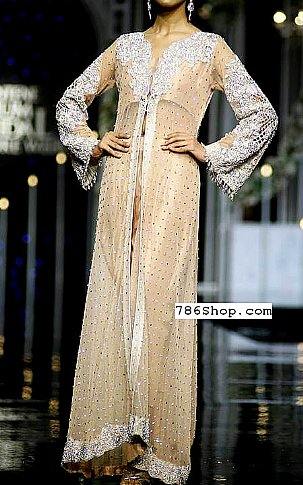 Peach Crinkle Chiffon Suit | Pakistani Party and Designer Dresses in USA