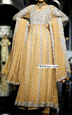Golden Jamawar Suit | Pakistani Party and Designer Dresses in USA