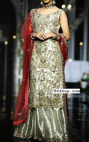 Pistachio Green Silk Suit | Pakistani Wedding Dresses in USA
