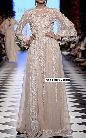 Peach Chiffon  Suit | Pakistani Party and Designer Dresses in USA