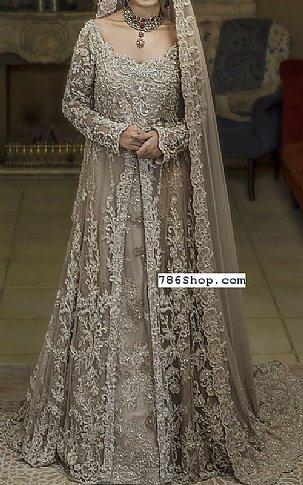 Tan Organza Suit   Pakistani Wedding Dresses