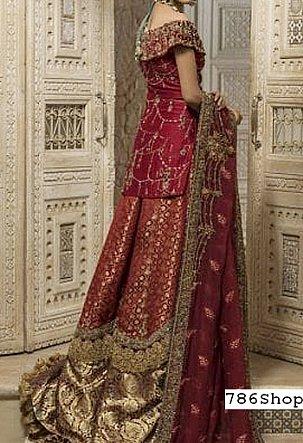 Maroon Silk Chiffon Suit   Pakistani Wedding Dresses
