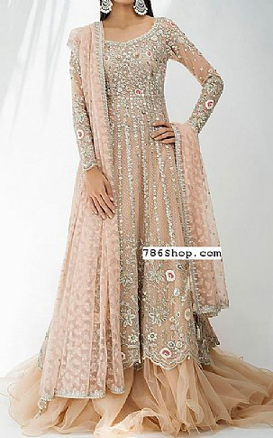 Sand Gold Oraganza Suit | Pakistani Wedding Dresses
