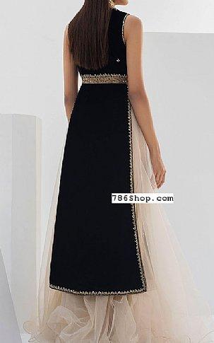 Black Velvet Suit | Pakistani Party and Designer Dresses