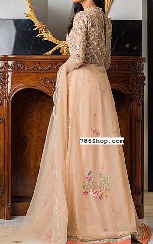 Light Golden Net Suit | Pakistani Wedding Dresses
