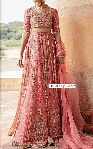 Tea Pink Chiffon Suit | Pakistani Wedding Dresses
