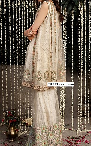 Off-white Organza Suit | Pakistani Party and Designer Dresses