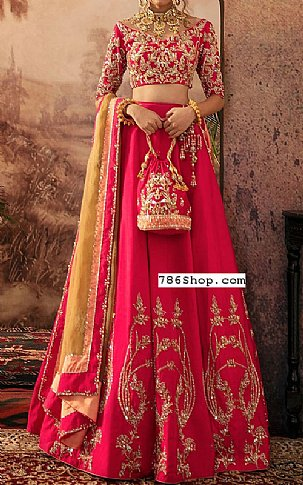 Hot Pink Silk Suit | Pakistani Wedding Dresses