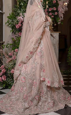 Pink Crinkle Chiffon Suit | Pakistani Wedding Dresses