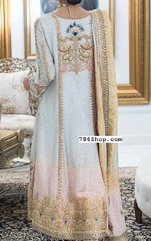 Sky Blue Jamawar Suit | Pakistani Party and Designer Dresses