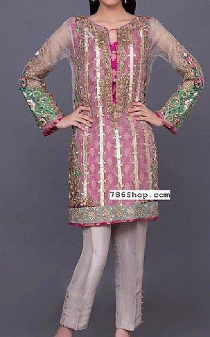 Magenta Net Suit | Pakistani Party and Designer Dresses