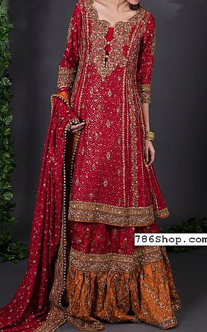 Red Chiffon Suit | Pakistani Wedding Dresses
