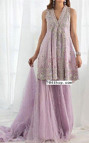 Lilac Crinkle Chiffon Suit | Pakistani Wedding Dresses