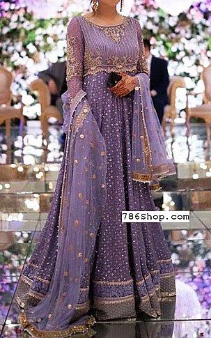 Lavender Chiffon Suit | Pakistani Party and Designer Dresses