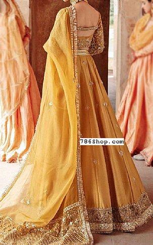 Golden Silk Suit | Pakistani Wedding Dresses