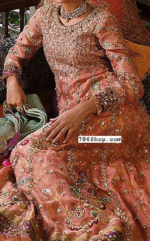 Peach Chiffon Suit | Pakistani Party and Designer Dresses