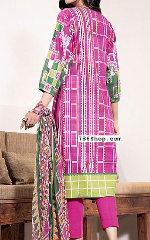 Hot Pink Cambric Suit | Pakistani Winter Clothes in USA