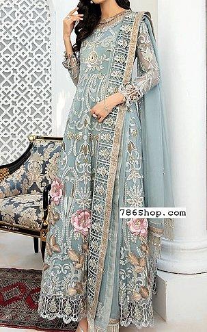 Baby Blue Chiffon Suit | Pakistani Chiffon Dresses in USA