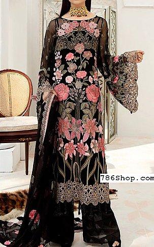 Black Chiffon Suit | Pakistani Chiffon Dresses in USA