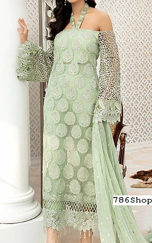 Mint Green Chiffon Suit   Pakistani Chiffon Dresses in USA