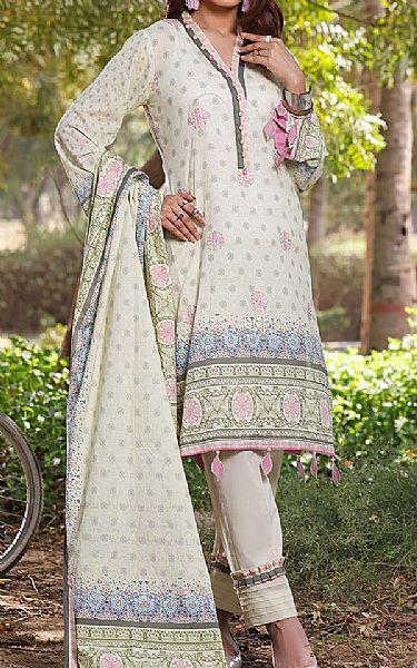 Ash White Lawn Suit   Pakistani Lawn Suits
