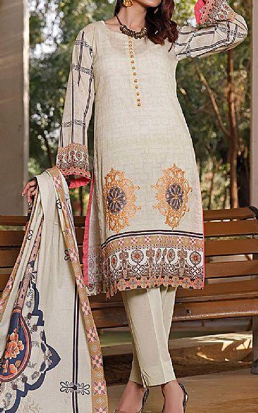 Ivory Lawn Suit | Pakistani Lawn Suits