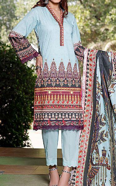 Baby Blue Lawn Suit   Pakistani Lawn Suits