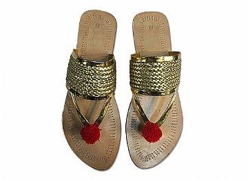 9de1bb87ae9b50 Home > Womens Khussa > Ladies Chappal- Golden